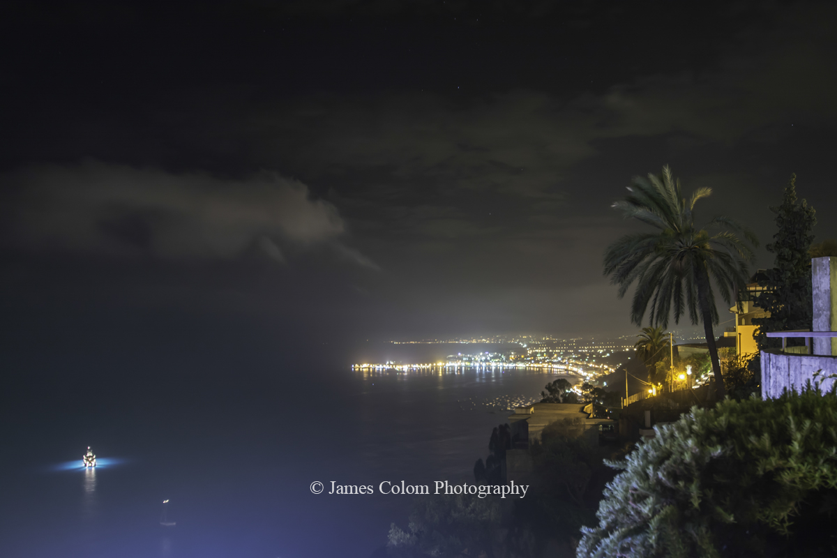 Taormina Bay at night