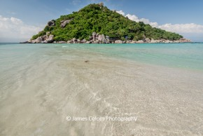 Beach on Nang Yuan Island near Koh Tao, Thailand