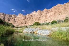 Clear pools of water at Wadi Tiwi, Oman
