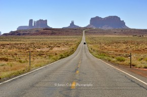 Route 163 to Monument Valley, as seen in Forrest Gump