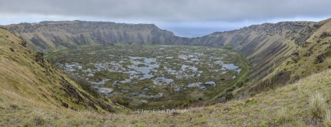 Rano Kau Crater Lake, Easter Island