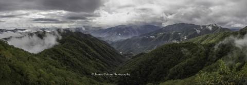 Mountain view panorama, Nikko, Japan
