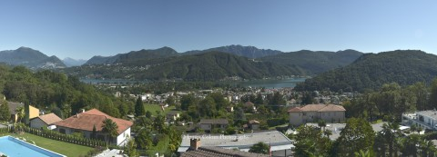 Lake Lugano as seen from Pura, Switzerland