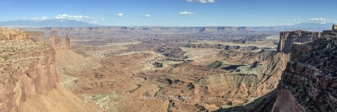 View from Mesa Arch, Canyonlands National Park