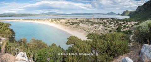 Beach at Voidokilia, Peloponnese, Greece