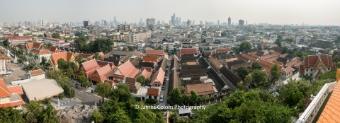 View from the top of the Golden Mount (Wat Sekat), Bangkok, Thailand