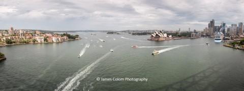 View from Sydney Harbour Bridge, Sydney, NSW, Australia